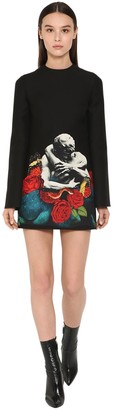 Valentino Printed Patch Crepe Couture Dress