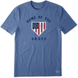Life is Good Men's Home Of The Brave Crusher Tee