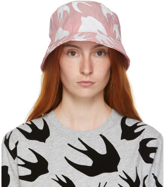 McQ Pink Swallows Bucket Hat