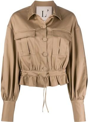 L'Autre Chose Tie Front Button-Up Jacket