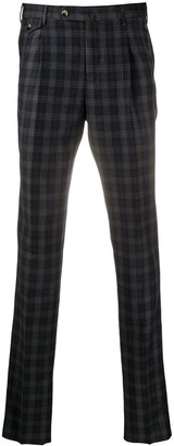 Pt01 Plaid-Check Tailored Trousers