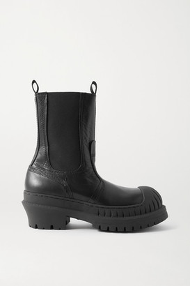 Acne Studios Textured-leather Chelsea Boots - Black