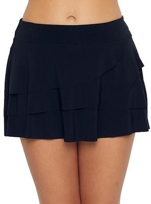 Miraclesuit Solid Ruffled Skirted Bikini Bottom