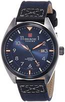 Swiss Military Men's Quartz Watch with Blue Dial Analogue Display and Blue Fabric, and Canvas Strap 6-4258.33.003