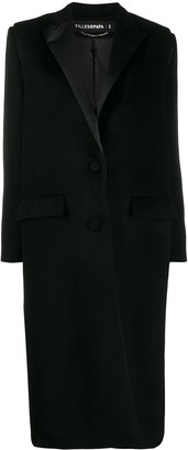 Filles a papa Satin-Trimmed Coat