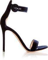 Gianvito Rossi Portofino velvet sandals
