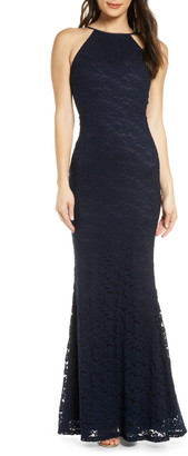 Lulus Ephemeral Lace Trumpet Gown