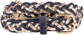 Des Petits Hauts Magic Sequin Plaited Leather Belt