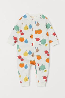 H&M Cotton Jersey Pajamas - White