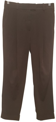 Cos Burgundy Polyester Trousers