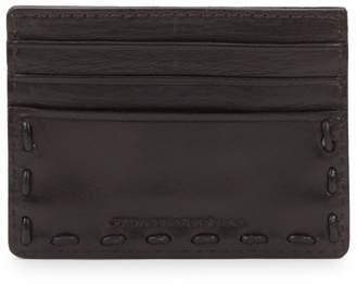John Varvatos Leather Credit Card Holder