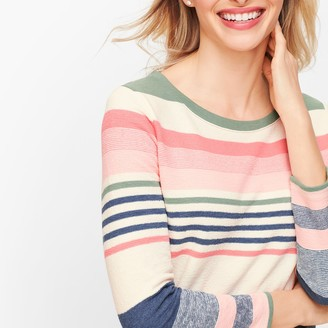 Talbots Mixed Stripe Multicolor Pullover