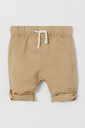 H&M Loose Fit Pull-on Pants - Beige
