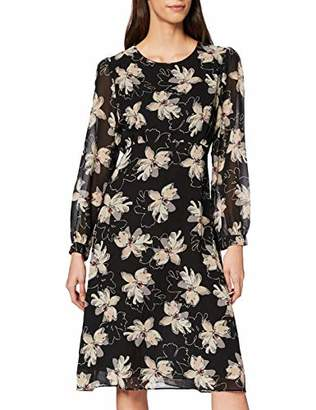 Yumi Pointy Flower Print Midi Dress