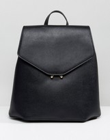 MANGO Clean Faux Leather Back Pack