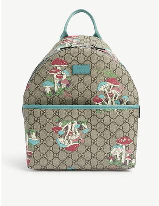 Gucci Kids Mushroom-print canvas backpack