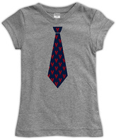 Urban Smalls Heather Gray Lobster Tie Fitted Tee - Toddler & Girls