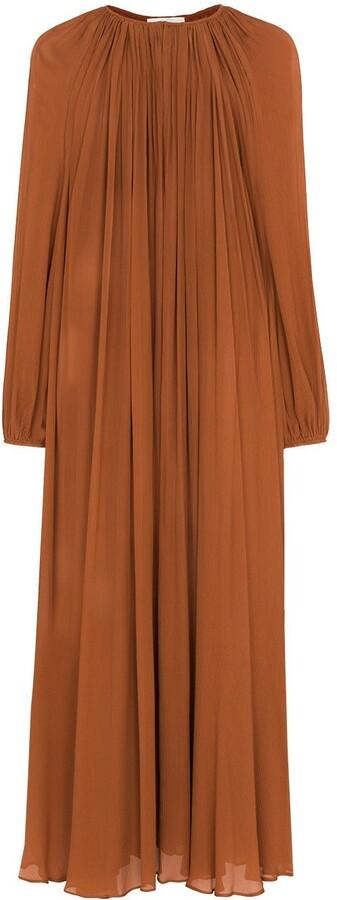 Matteau Semi-Sheer Silk Maxi Dress