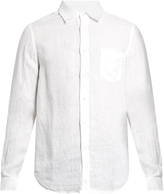 120% Lino 120 LINO Point-collar linen shirt