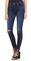 7 For All Mankind Ankle Skinny Knee Slit Jeans