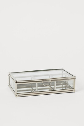 H&M Clear Glass Jewelry Box - Silver
