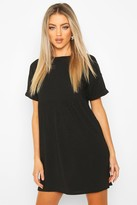boohoo Ribbed Smock Dress