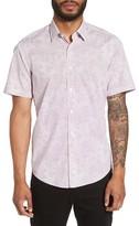 BOSS Men's Luka Trim Fit Dot Print Sport Shirt