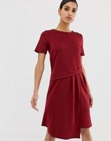 Asos Design DESIGN oversized drape midi t-shirt dress