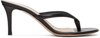 Gianvito Rossi Black Calypso 70 Heeled Sandals