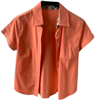 Burberry Orange Cotton Tops