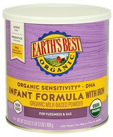 Earth Earth's Best Organic Sensitivity Infant Formula with Iron 23.2 oz