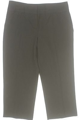 Nicole Miller Womens Capri Dress Pants Slacks - Size 8 Black NWT