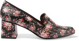 Tabitha Simmons Margot Floral-print Leather Pumps - Black