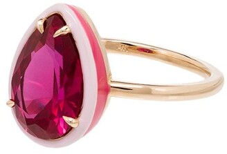 Alison Lou 14kt gold Cocktail ruby ring