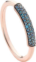 Monica Vinader Stellar 18ct rose gold-plated vermeil and blue diamond ring