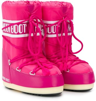 MOON BOOT KIDS Logo Lace-Up Snow Boots