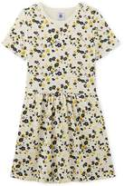 Petit Bateau Girl's flower print double knit dress