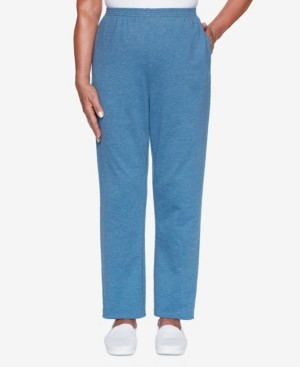 Alfred Dunner Women's Missy Long Weekend French Terry Proportioned Medium Pant