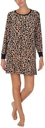 Kate Spade Stretch Velour Sleepshirt (Painted Leopard) Women's Pajama