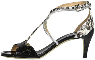 Chloé Strappy Exotic Mix Leather Sandal