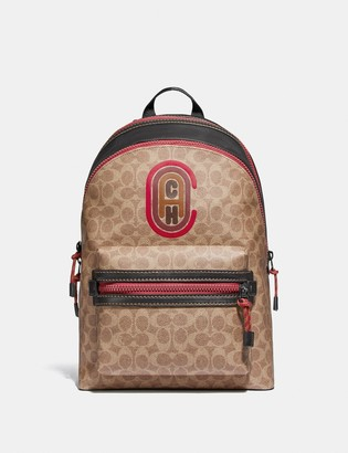 Coach Academy Backpack In Signature Canvas With Patch