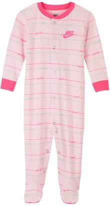 Nike Baby Girl Striped Snap Sleep & Play