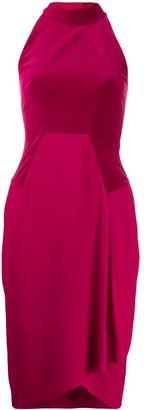 Tom Ford Cady And Velvet Halterneck Dress