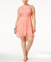 Love Squared Trendy Plus Size Lace A-Line Dress