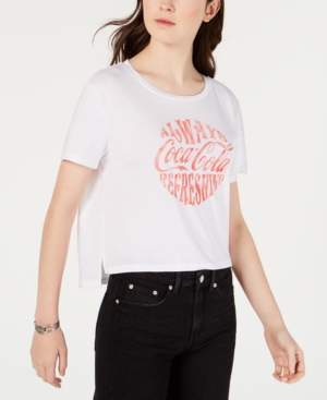 Freeze 24-7 7 7 Juniors' Coca-Cola Cropped Graphic T-Shirt