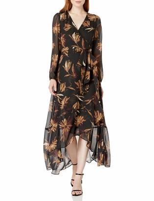 Tommy Hilfiger Women's Chiffon Maxi Wrap Dress