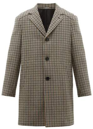 Lanvin Checked Wool-twill Car Coat - Mens - Brown