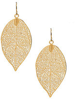 Anna & Ava Gunther Openwork Leaf Drop Earrings