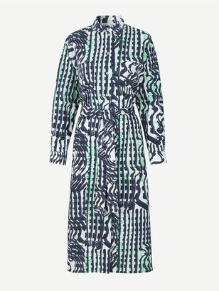 Samsoe & Samsoe Johannah Printed Shirt Dress Aop Seismograph - XS