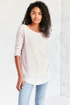 Silence & Noise Silence + Noise Aimee Chiffon Shirttail Pullover Top